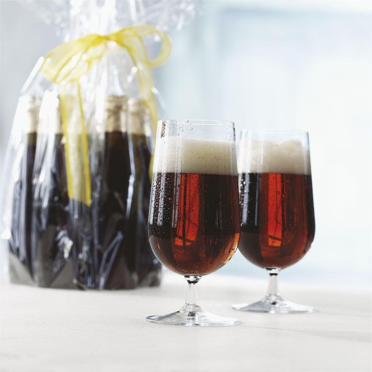 Kieliszki do piwa GRAND CRU - 2 szt. - DECO Salon. Set of 2 tall glasses of beer #rosendahl #giftidea #scandinaviandesign