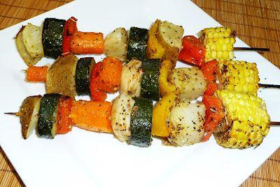Brochetas Vegetarianas ~ Cocina Facil