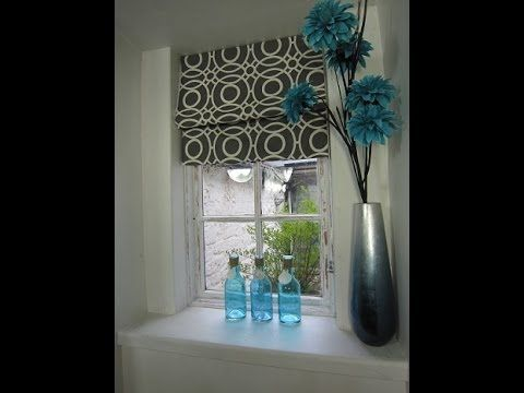 An easy way to make a roman blind for a wooden framed window, that can easily be adapted for a larger size.