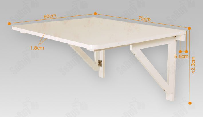 Details about sobuy wall mounted drop leaf table folding for Petite table murale pliante