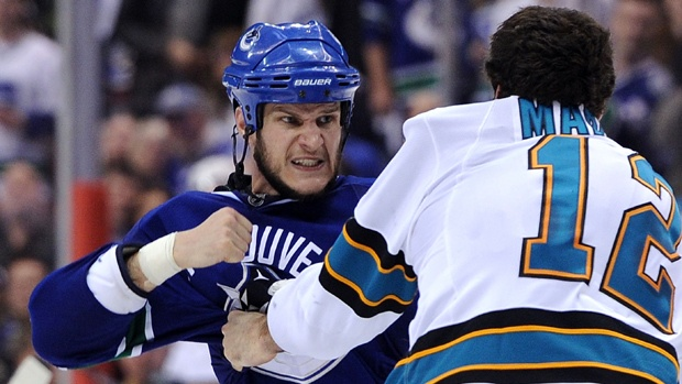I love it when he gets into fights. It's the best part of hockey!
