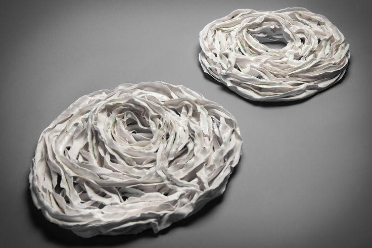 bind - paperclay porcelain, metal oxide, transparent glaze