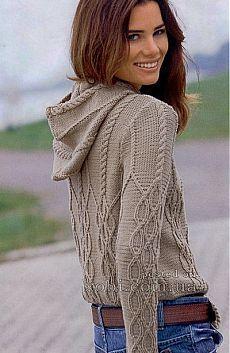 Женские пуловеры и свитера вязаные крючком и спицами » Страница 13