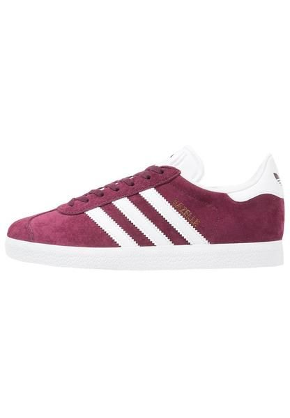 womens-brown-adidas-originals-gazelle-trainers-maroon-white-gold-metallic