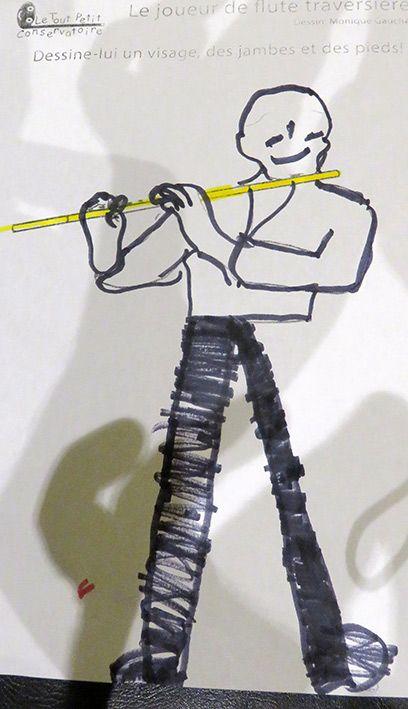 Les 138 meilleures images du tableau dessins coloriages d - Dessin de flute ...