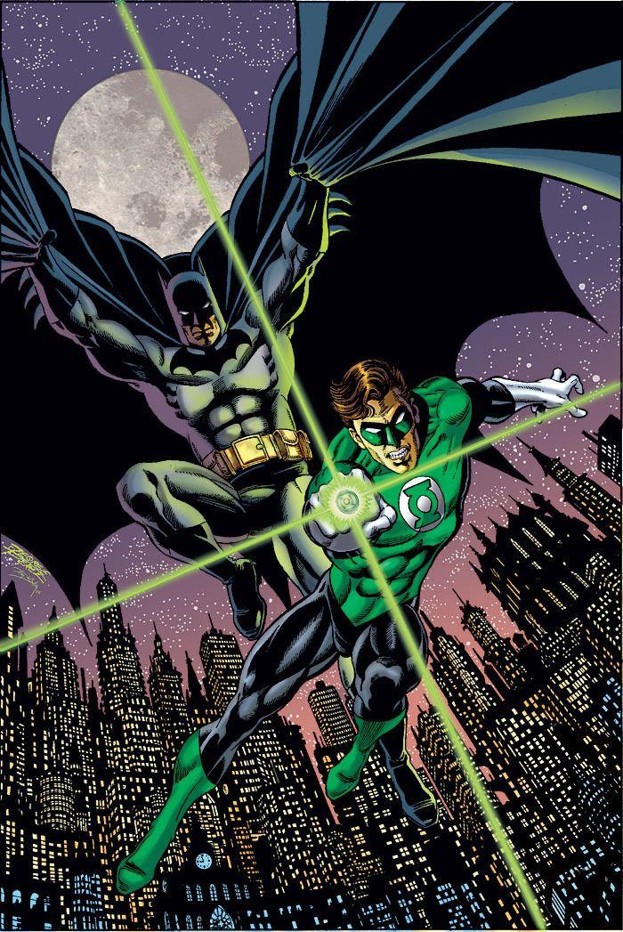 redcell6:  Batman & Green Lanternby George Perez