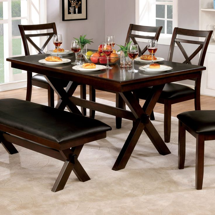 Furniture Of America Mallory Formal Cherry Red: Best 25+ Dark Wood Dining Table Ideas On Pinterest