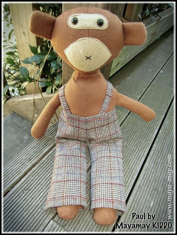 Meet our new plush friend PAUL by MM KIDDO!. |Price: AUD18.00  |www.maya-may.com ||Enquiries: mayamay24@gmail.com. Text : Angela +61413504255 (Australia) #dolls #plushies #felt #handmade #kids #toys #gifts #crafts