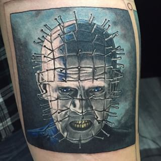Another polaroid of Pinhead added to Kenneth's horror sleeve project!