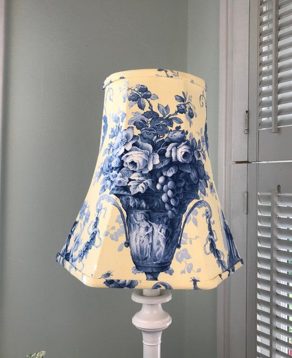 Blue Toile Lamp Shade Blue And Yellow Toile Lamp Shade French Lamp Shade French Country Lamp Shade Free Shipping Boho Lamp French Lamp Eclectic Lamp Shades