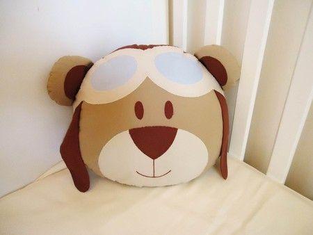 Coleção Urso aviador - Almofada