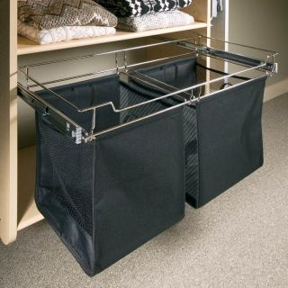 Laundry, stored out of sight when guests are around but easy to get too.