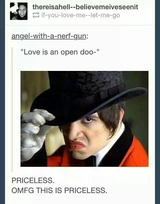 This is possibly the funniest thing I've ever seen and if you don't get it I feel bad for you < By Panic! At The Disco<< anyone else get the Angel with a nerf gun lol