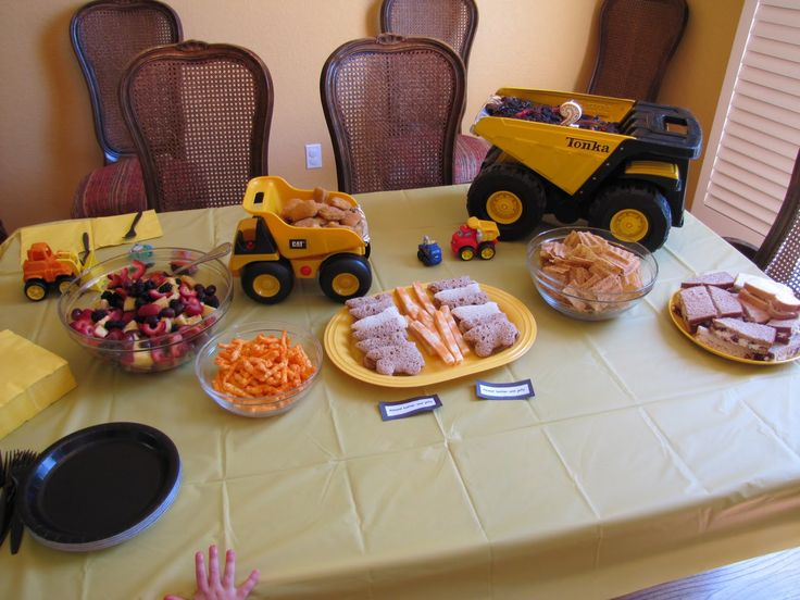 truck birthday themes | Adventures with the Austins: A Tonka Truck party!