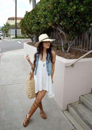 vestio blanco sandalias