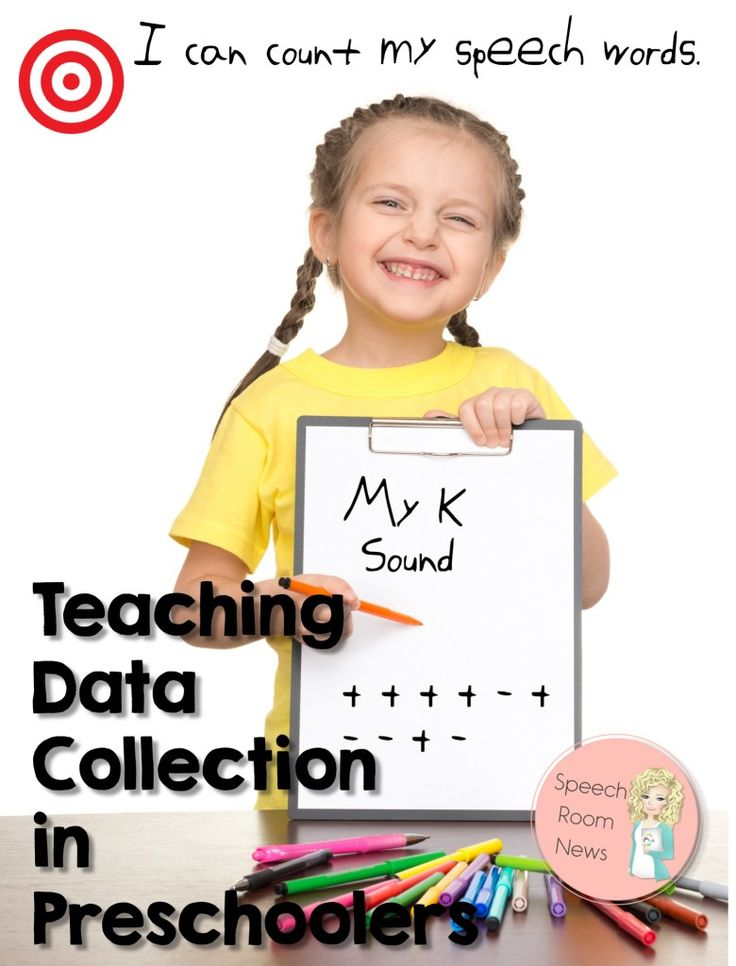 I can count my speech words! Student data collection in preschoolers.