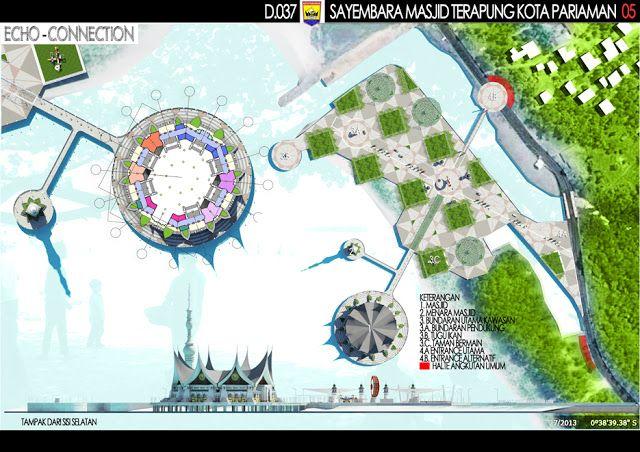 """Sayembara Masjid Terapung Kota Pariaman """"Konsep Desain 3"""" ~ 1000+ Inspirasi Desain Teknologi Konstruksi Arsitektur"""