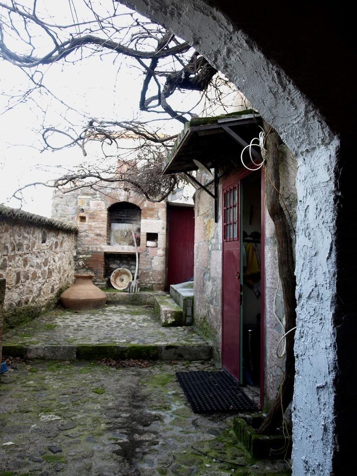 Traditional stone house  Lesvos island Greece