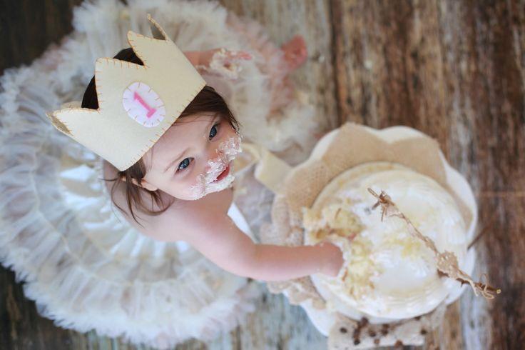 Baby 1st birthday: Felt Birthday, 1St Birthday Photos, Baby 1St, Birthday Crowns, First Birthdays, 1St Birthday Cakes, 1St Birthday Pictures, 1St Birthdays, First Birthday Cakes