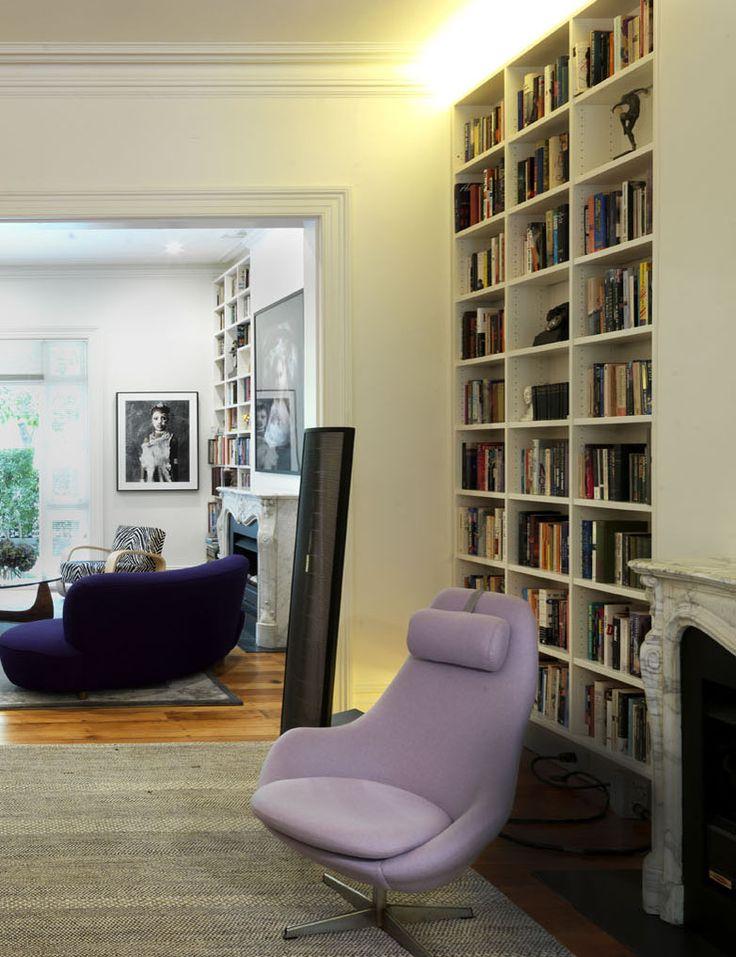 WOOLLAHRA TERRACE   alwill  #fireplace #interiors #livingroom #bookshelf #bookcase #wood