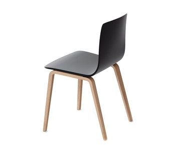 aava chair wood legs black wood legs by arper design furniture and decoration with made in design