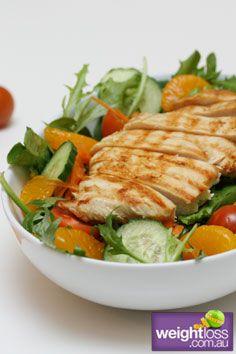 Chicken Salad with Honey Citrus Dressing Recipe - weightloss.com.au