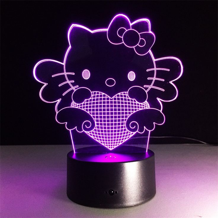 Hello Kitty 3D Light //Price: $26.99 & FREE Shipping // World of Hello Kitty http://worldofhellokitty.com/hello-kitty-3d-novelty-light-7-colors-changing-3d-illusion-lamp-led-colorful-atmosphere-lamp-girls-bedroom-decorative-lights/ #hellokitty