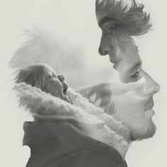 The photographer who has done this technique is a double exposure. I like this photo from how the photographer has made it look like he's thinking of his little family.