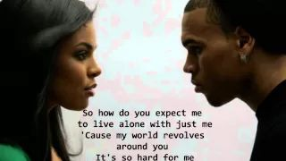 Jordin Sparks Feat. Chris Brown - No Air Lyrics HQ - YouTube