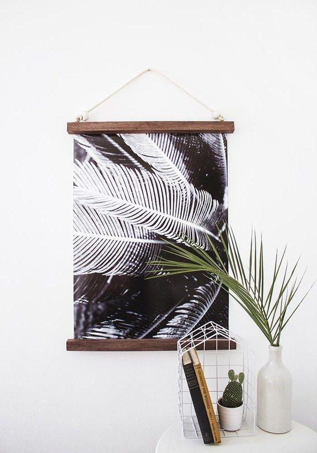 This half-framed hanging print. | 21 Wall Art Projects That Are Actually Affordable