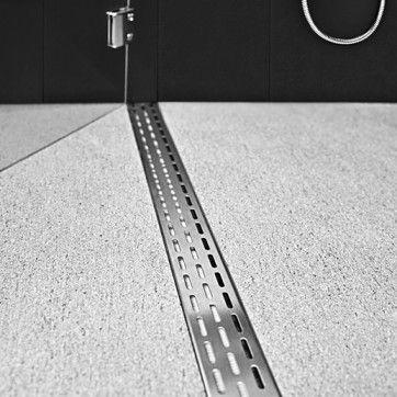 Curbless shower drain. Infinity Drain.