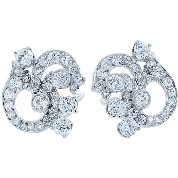 Pretty and Wearable Diamond Platinum Earrings (47.485 ARS) ❤ liked on Polyvore featuring jewelry, earrings, platinum jewellery, diamond earrings, diamond earring jewelry, platinum jewelry and diamond jewellery