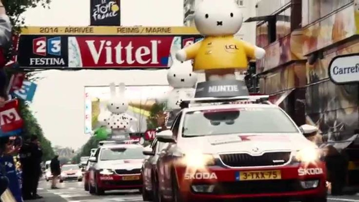 "Le Tour Utrecht - Arrivée. With Laurens ten Dam yelling: ""Utrecht!"" <3 #TDFutrecht  #LeTourUtrecht #miffy #nijntje"