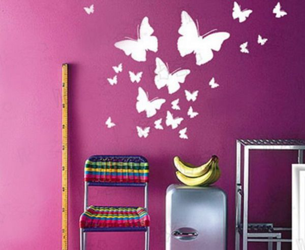 Butterfly Wall Murals Art Ideas Boy Girl Room Murals Pinterest Ideas Art And Mural Art