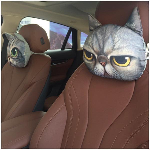 Crazy Cat Pillows For Car