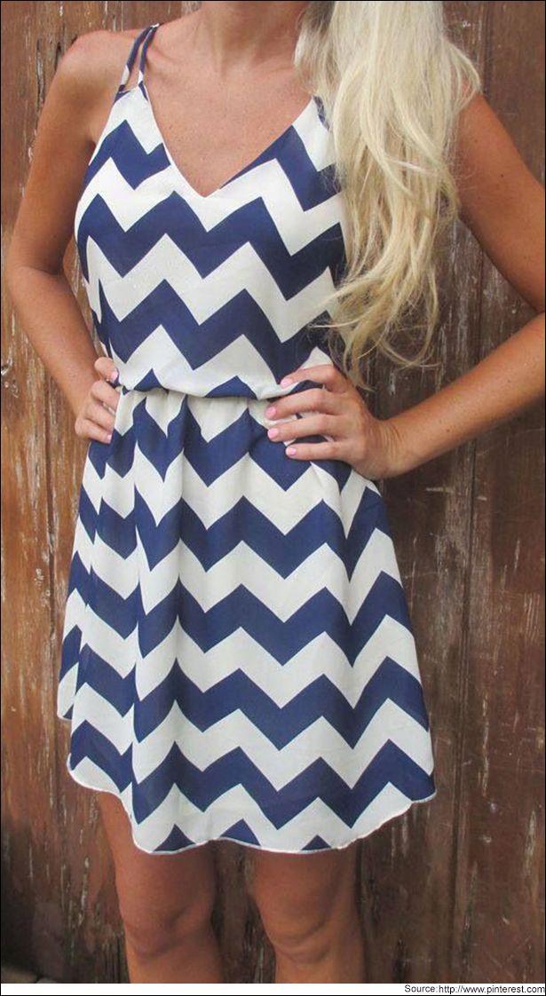 Navyblue Chevron print dress  #Navybluedress #Chevronprints