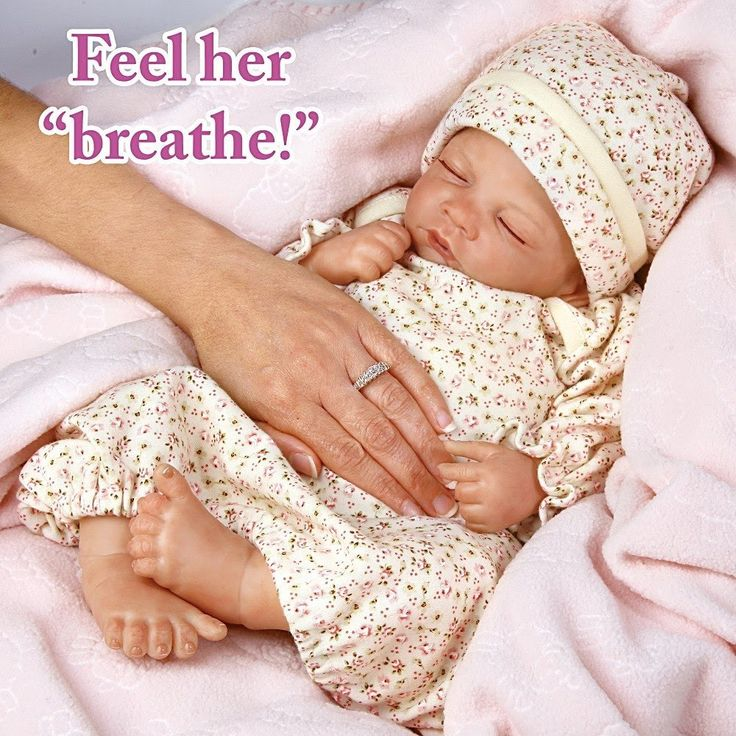 """Hush Little Baby"" So Truly Real Lifelike Baby Girl Doll"