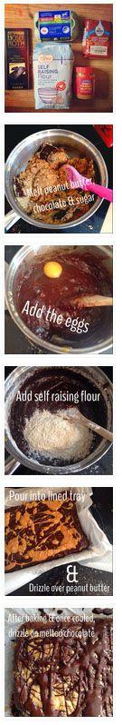National Baking Week #recipe from Glasgow Mummy: http://www.glasgowmummy.blogspot.co.uk/2014/10/aldi-peanut-butter-brownies-for.html?m=1