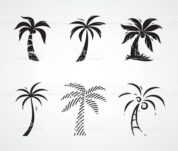 De palmeira vetor e ilustração royalty-free royalty-free