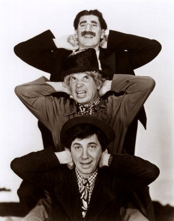 (2011-06) The Marx brothers. My father was a very serious man. I don't think I remember him laughing, except the times he watched Marx Brothers on tv. Then he'd start crying from laughter.:-)