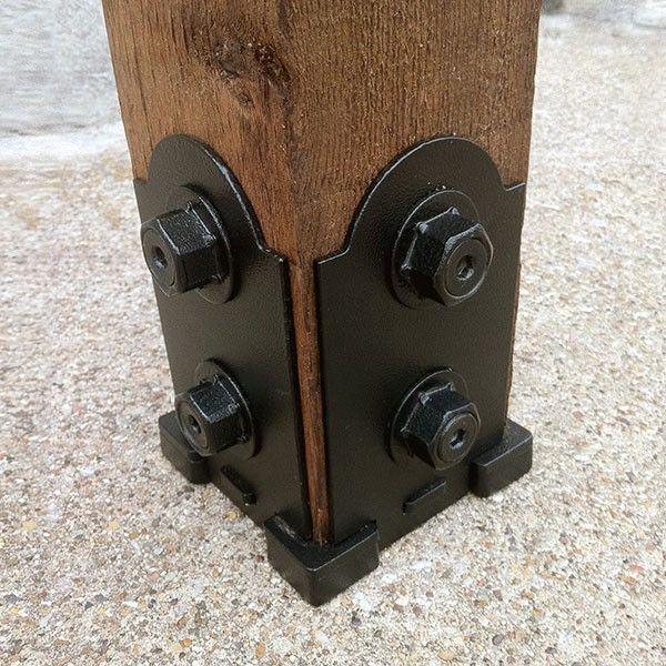 OZCO Ornamental Wood Ties Post Base Kit - Laredo Sunset - DecksDirect.com