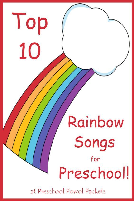 Top 10 rainbow preschool songs! These are also perfect for homeschool and kindergarten!
