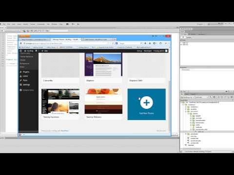 Create a WordPress Child Theme using DreamWeaver - YouTube