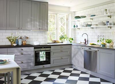 Köksinspiration - - Grått kök i ask - Nordic
