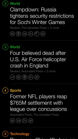 What if the list background changed based on the time of day. Evening = darker. Daytime = lighter. Cloudy/Rainy = brighter Yahoo News Digest