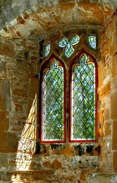 bluepueblo:    Medieval Abbey Window, East Sussex, England  photo via jayne