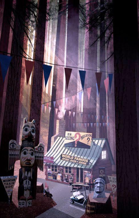 Gravity Falls Concept Art By IanWorrel