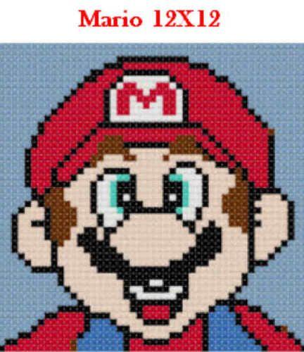 Mario latch hook pattern