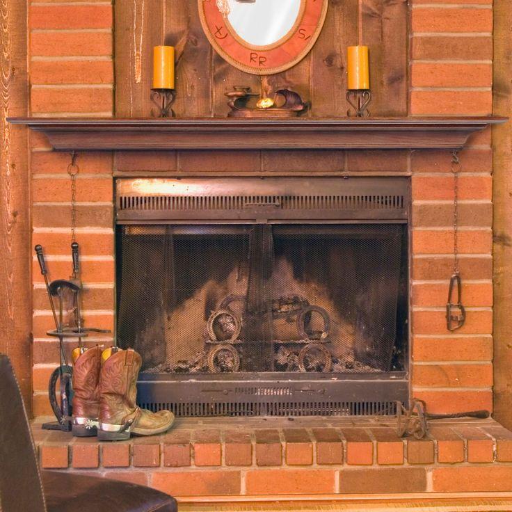 Fireplace Mantel: Pearl Mantels Homestead Transitional Fireplace Mantel Shelf - 418-60