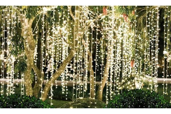 Led Curtain Fairy Lights 6x3m 600led Outdoor Tree Lighting Fairy Lights In Trees Lights Wedding Decor